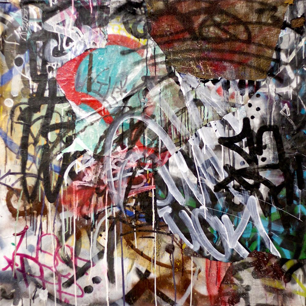 Felix Culpa Mixed Media on Canvas, 42in x 42in  ©2013 Mint&Serf