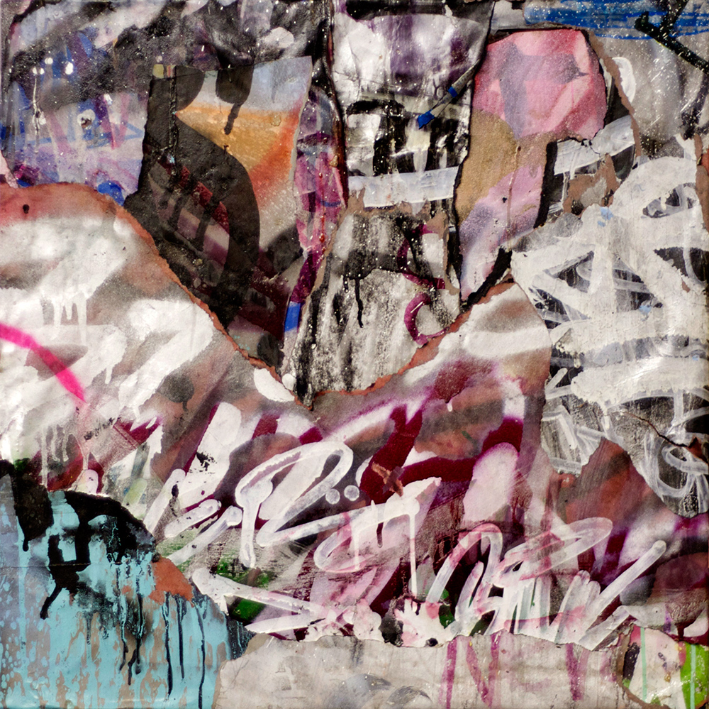 Live Through This, Mixed Media on Canvas, 24in x 24in  ©2013 Mint&Serf