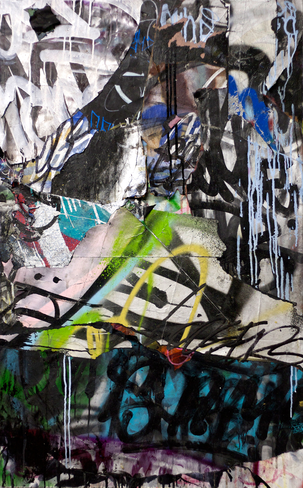 Negative Creep, Mixed Media on Canvas, 30in x 48in  ©2013 Mint&Serf