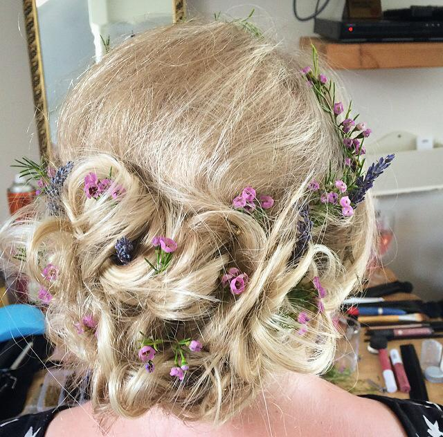 Wedding Hair for Tiia at The Cottage Lodge in Brockenhurst