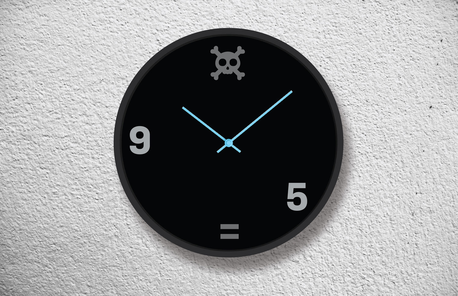 An office clock that suggests that office hours are just for passive aggressive office drones — not the restless entrepreneurial spirits.