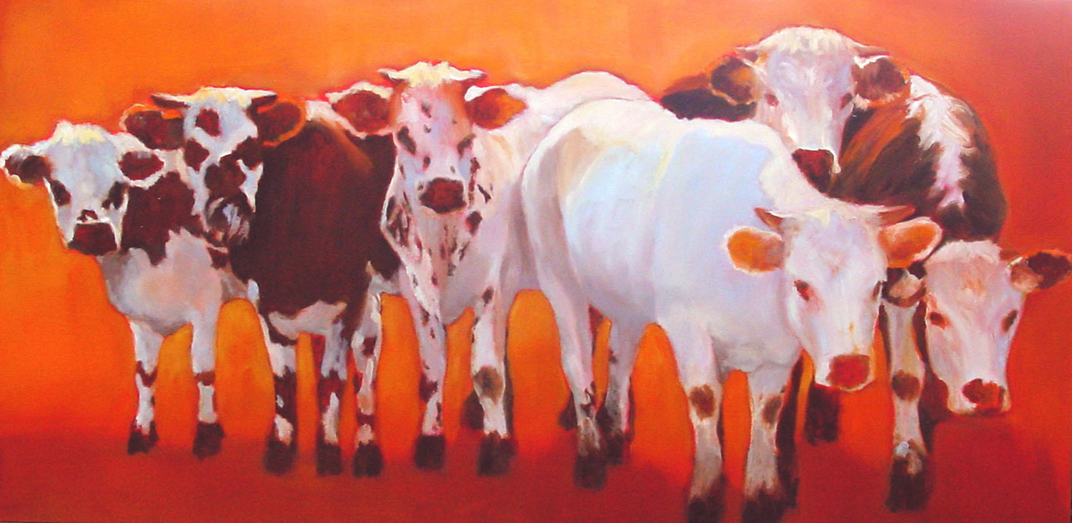 Friendly Faces 24 x 48 Sold