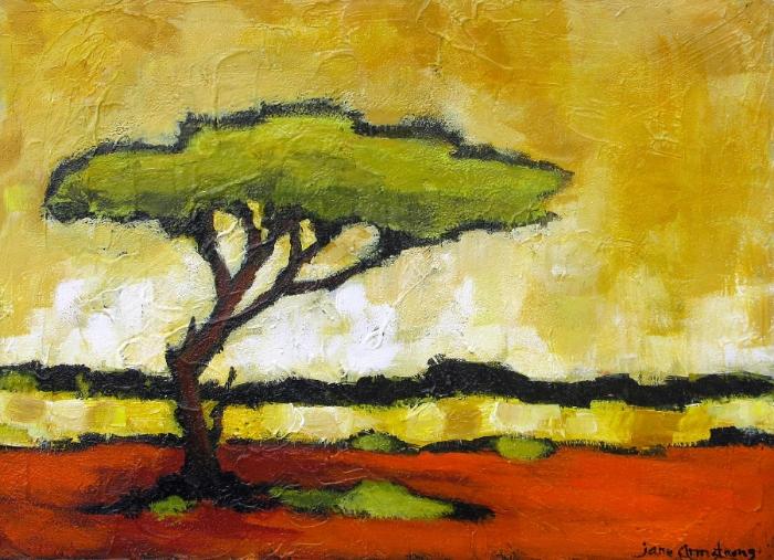 Lone Acacia Acrylic 18 x 24 Sold