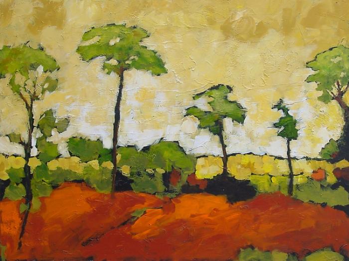 African Acacia Acrylic 36 x48 Sold