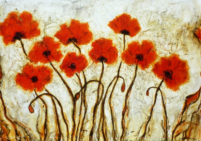 Poppy Time Acrylic 48 x 72