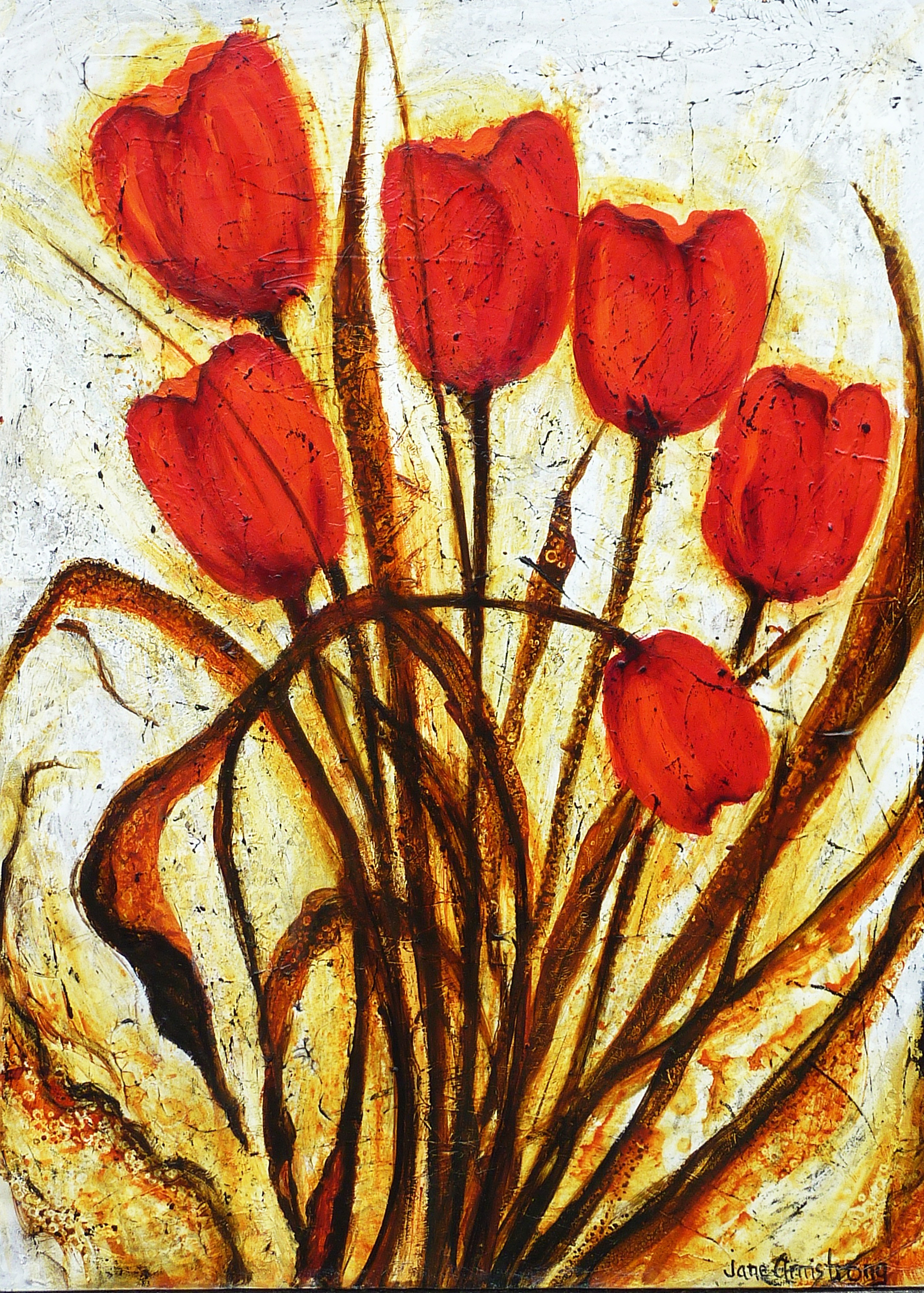 Tulip Time Acrylic 40 x 30 SOLD