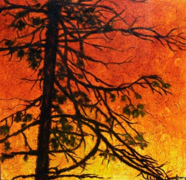Afterglow Acrylic 36 x 36