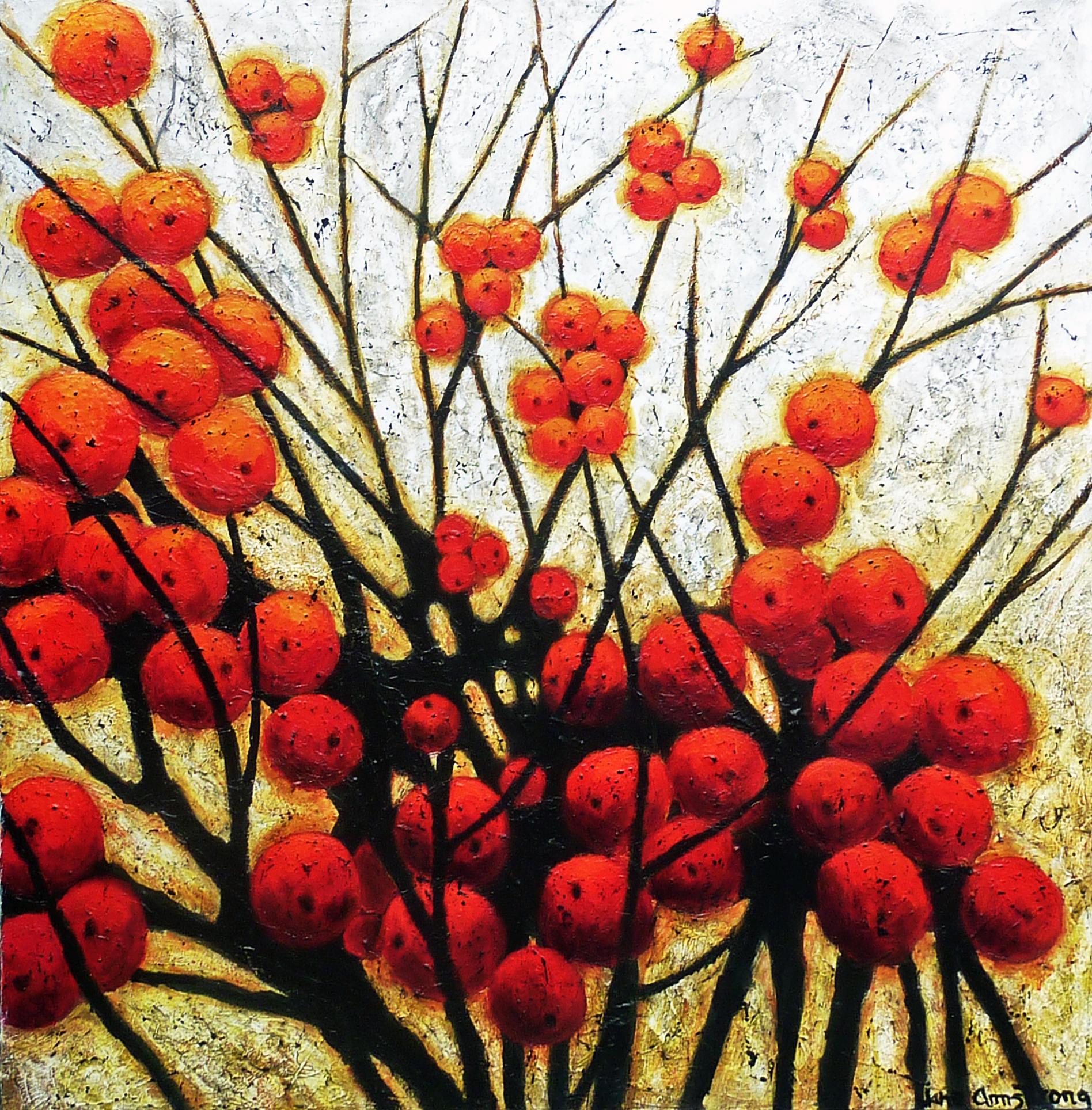 Winterberries Acrylic 40 x 40