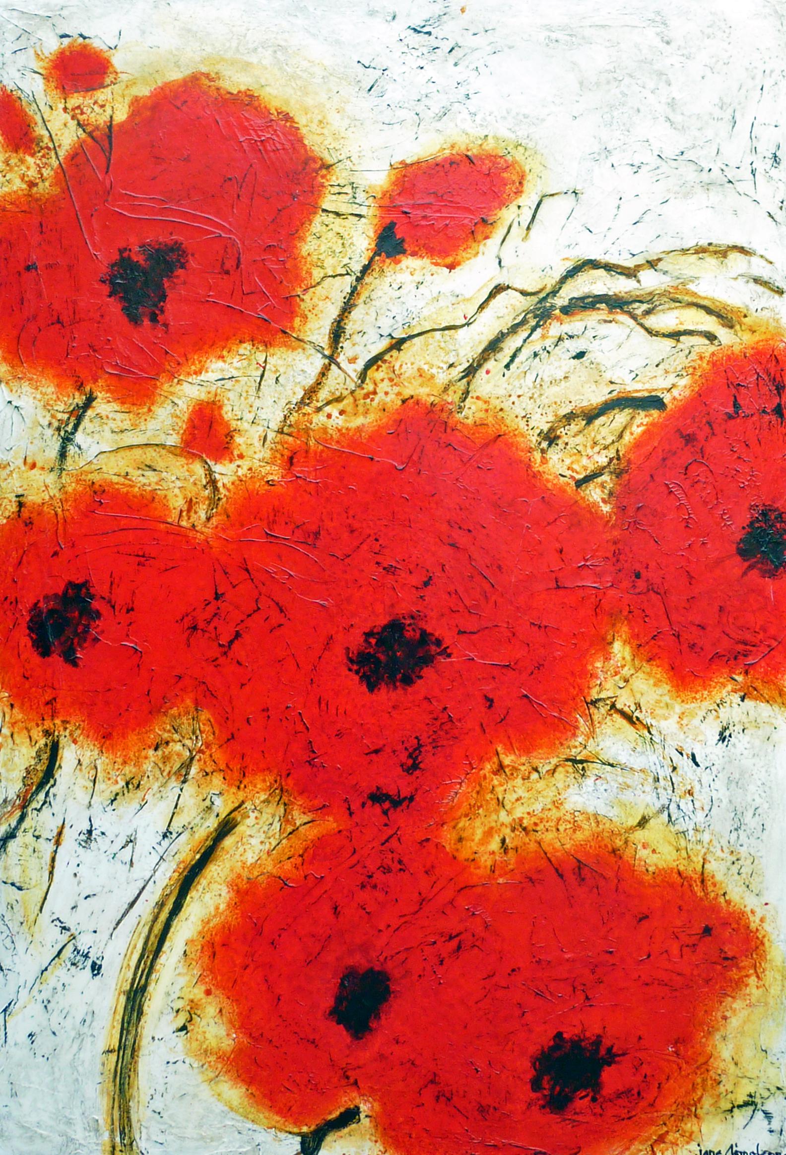 Poppy Profusion 60 x 40 Acrylic