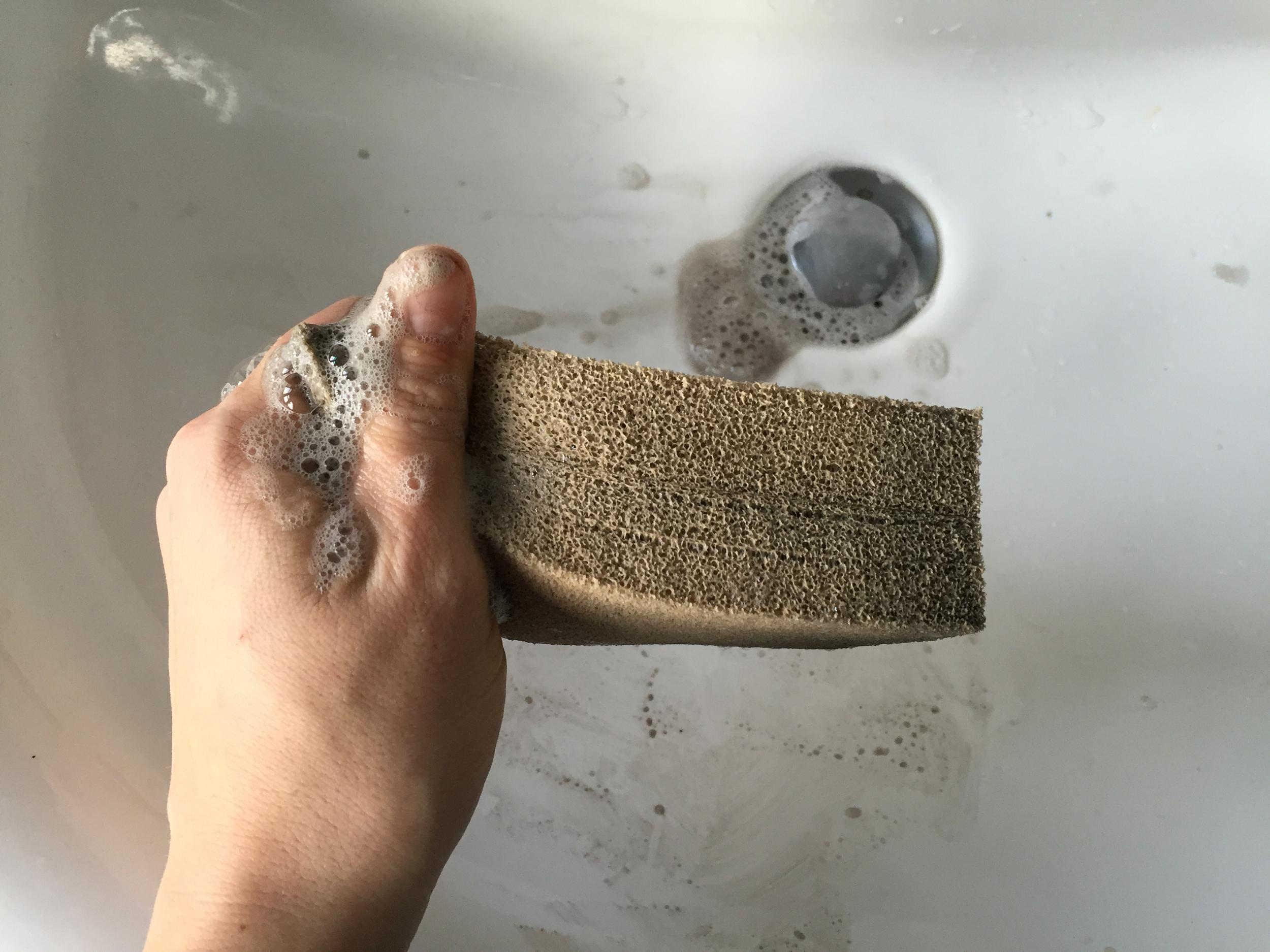 Soapy smoke sponge