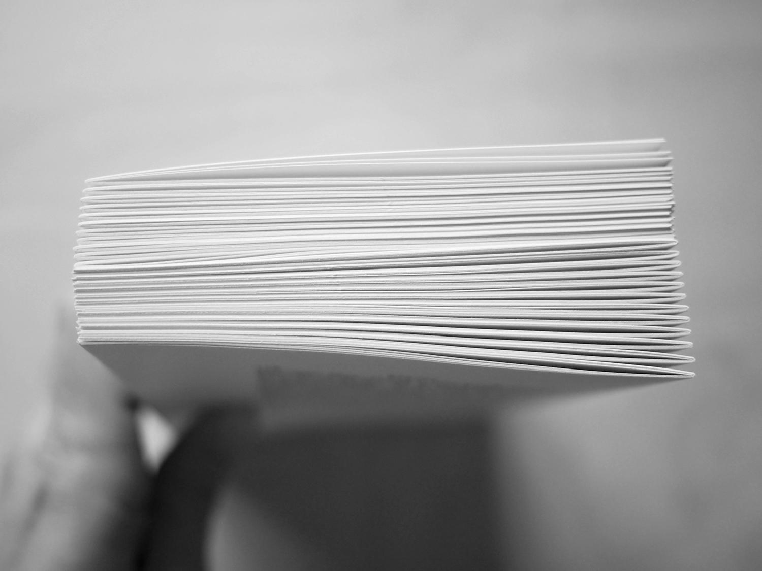 This one has already been pressed so don't look at the sharpness of the folds but see here how you can alternate the spine folds so that you get a more manageable stack.