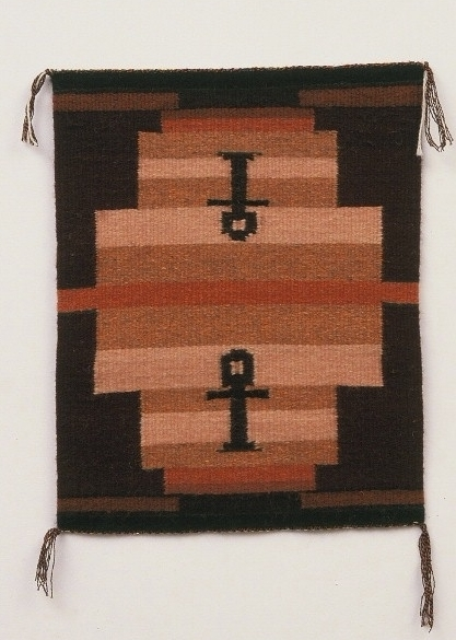 "Reflections of Ankh (Life). (c) Kaitha Het Heru.  Khamit Cloth Handwoven Textile Painting. 25"" x 36"""