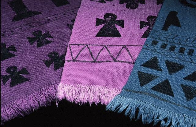 Ankh (Life) Shawls. (c) Kaitha Het Heru. Khamit Cloth