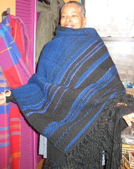 Night Sky. (c) Kaitha Het Heru. Khamit Cloth Handwoven Body Wrap.