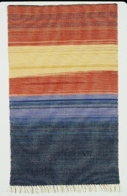 Sunrise Over the Jersey Shore, #1. (c) Kaitha Het Heru.  Khamit Cloth Handwoven Water Color Series