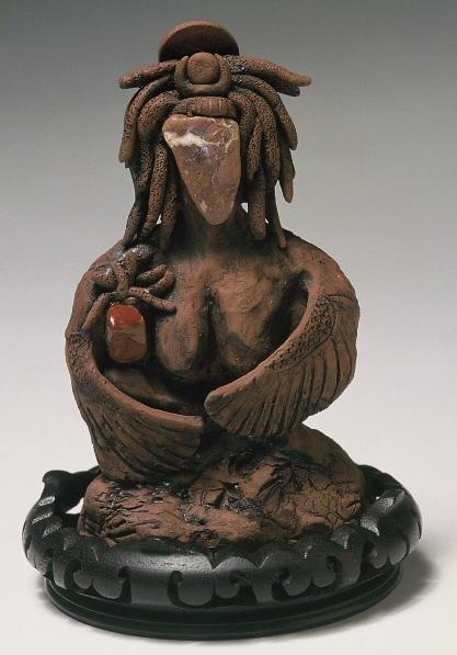 Ntrt (Goddess) Het Heru and Child. (c) Kaitha Het Heru