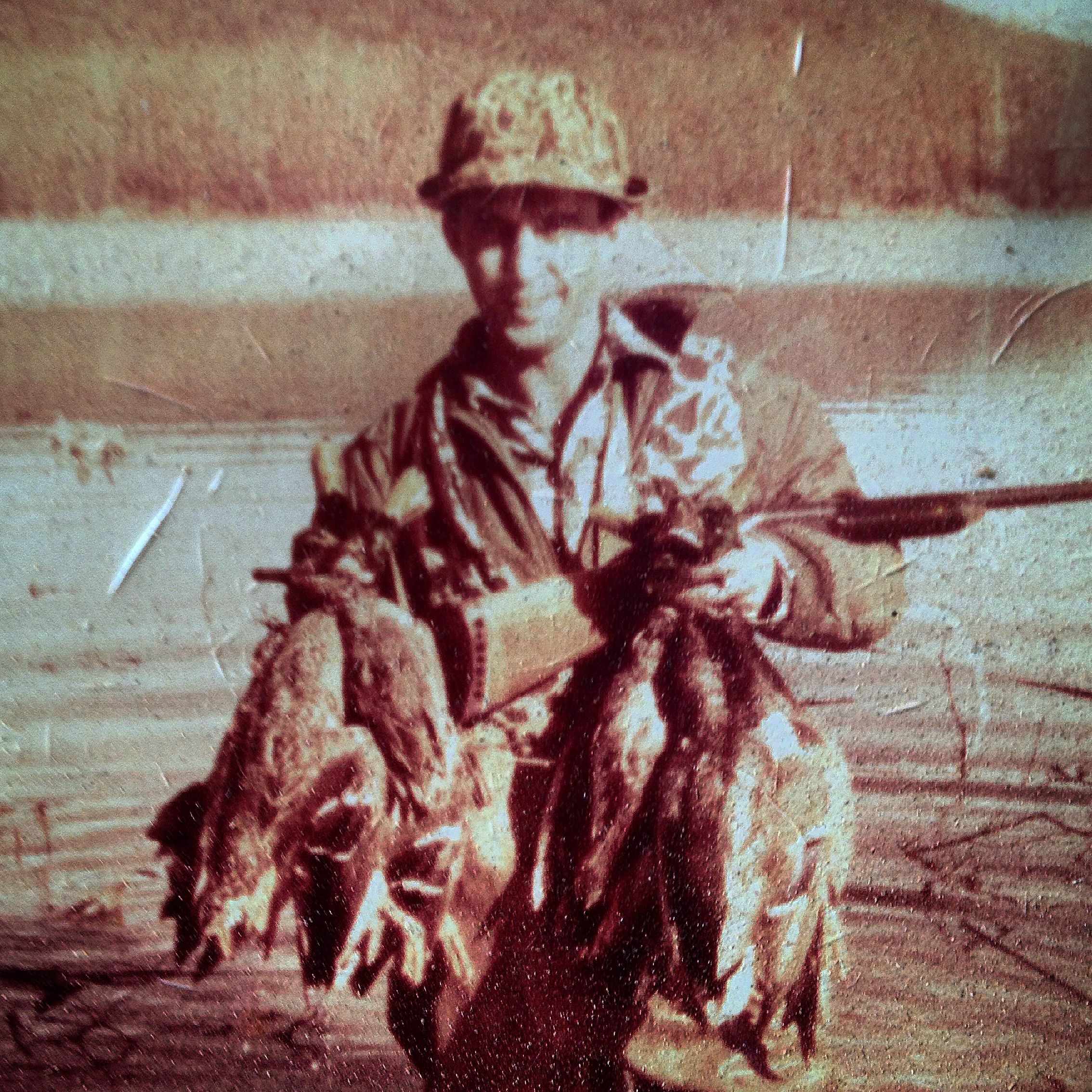 Old duck hunting photo of Jose.