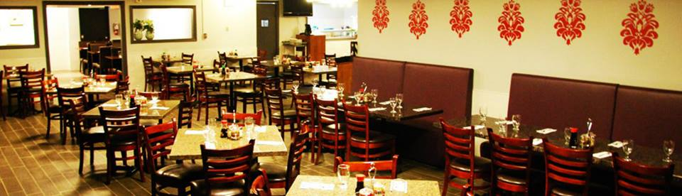 Thank you Kim for sharing your pictures of Asian Wok 'n' Roll using our Damask Wall decals.