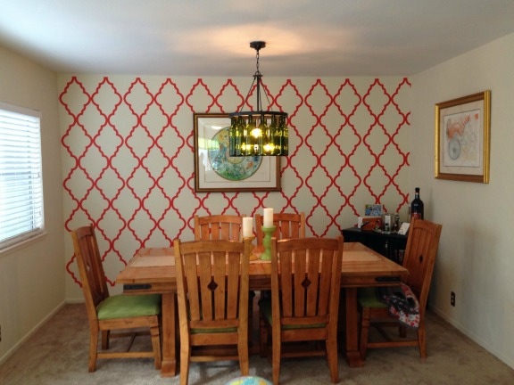 We love Courtney's finished project using our Moroccan wall decal.