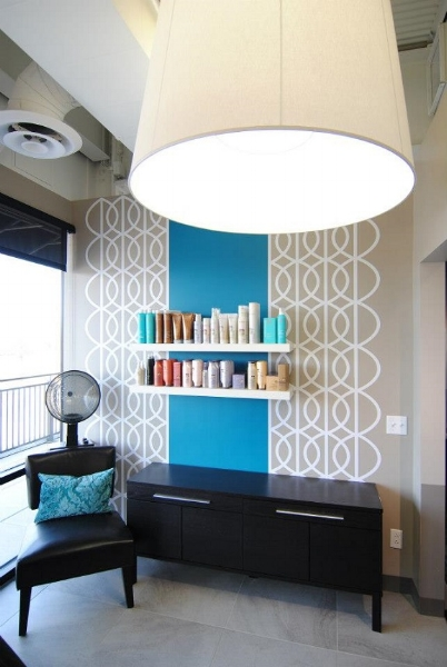 Thanks Michelle with Bovet Interiors for sharing this photo of your completed custom project using our wall decals.
