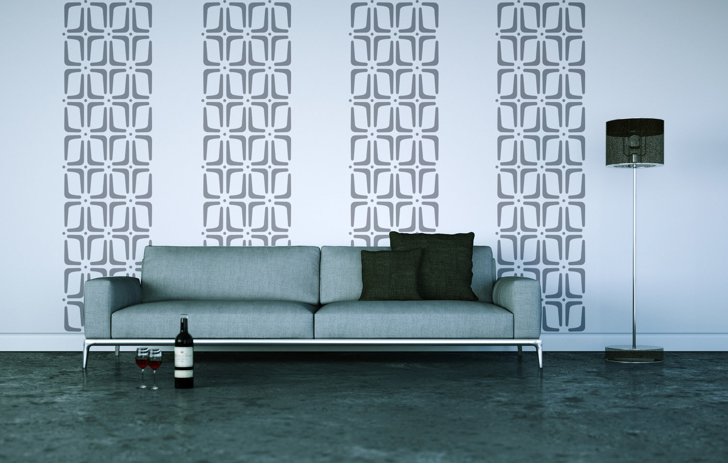 Mid Century Modern Screen Wall Decals Wall Star Graphics