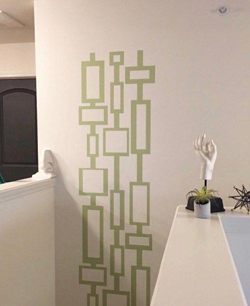 Rectangle Mid Century Modern Wall Decor — Wall Star Graphics