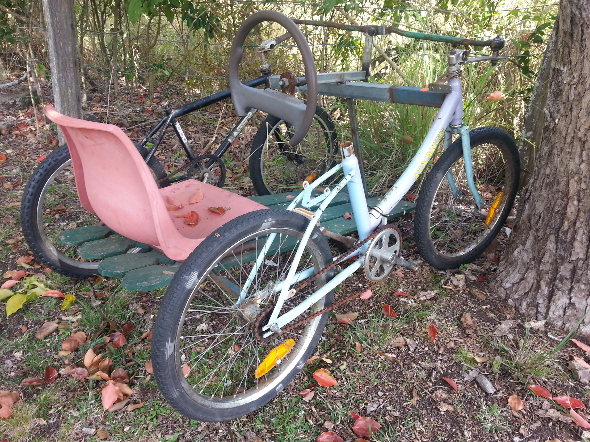 Home made bike, found at Wiangaree Public School