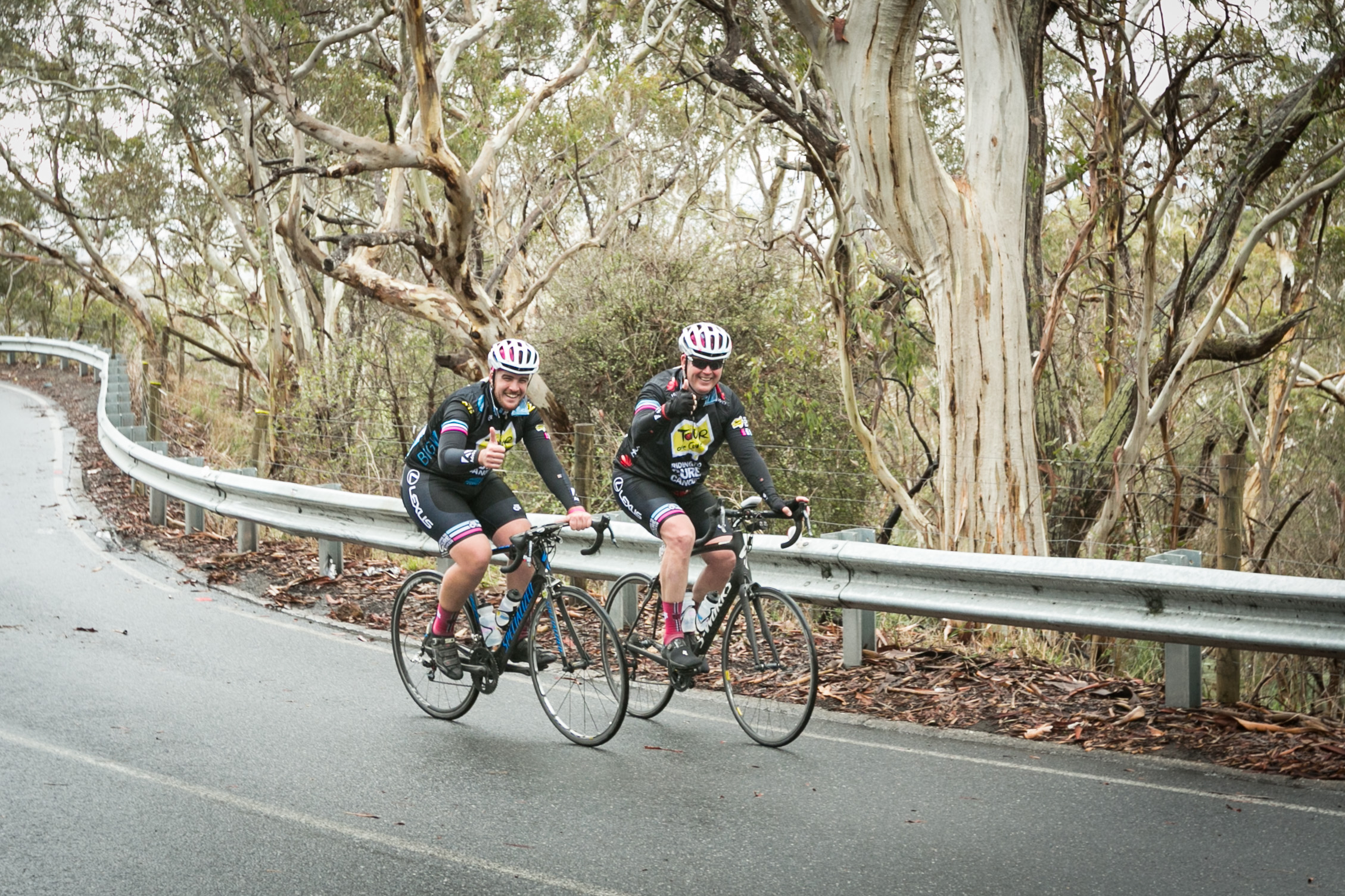 Cory & Rob Climbing Willunga Hill