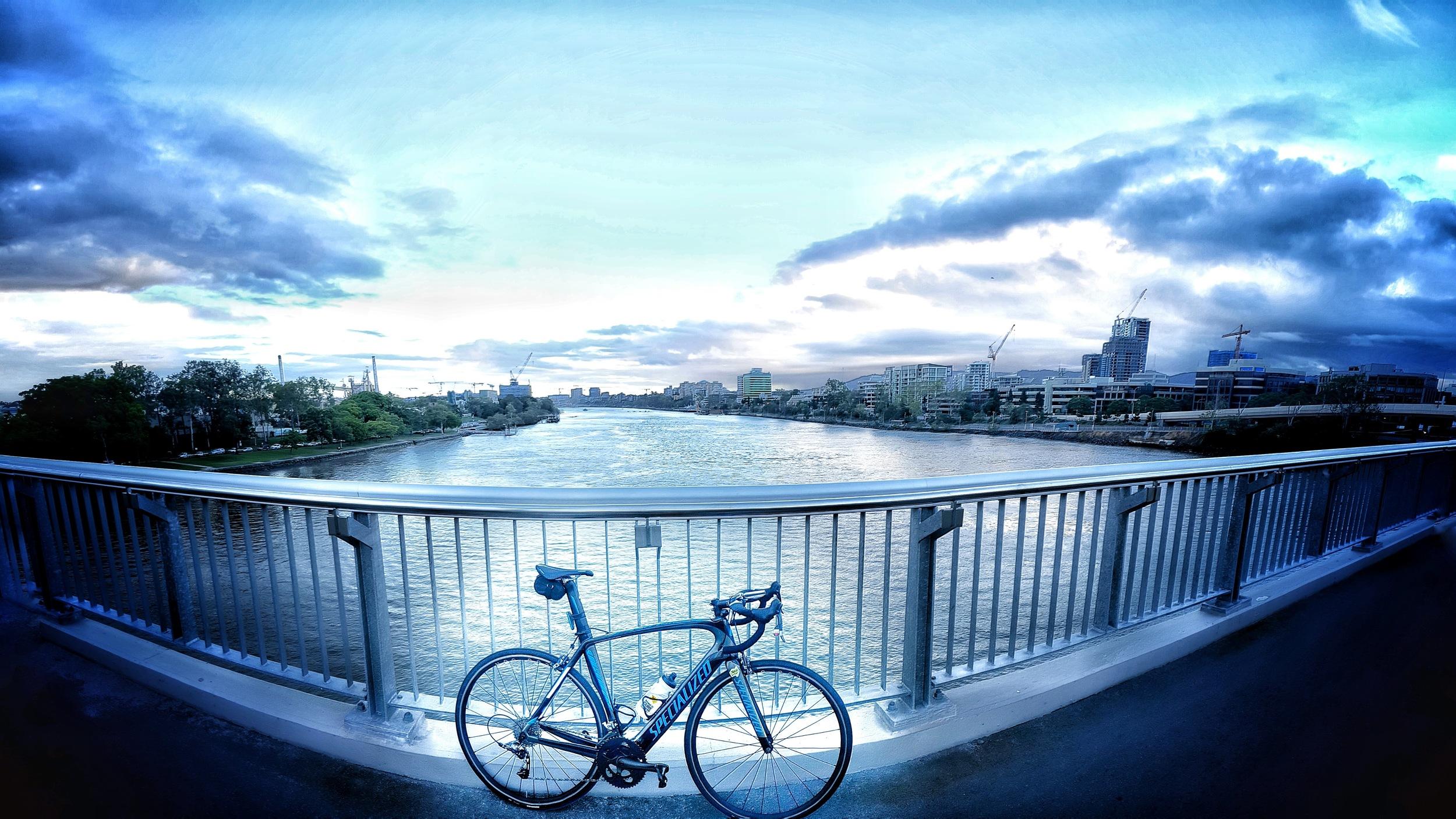Brisbane River from the Go-Between Bridge.