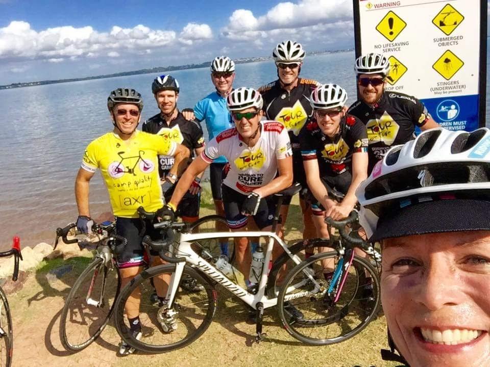 The Brisbane crew on a training ride.
