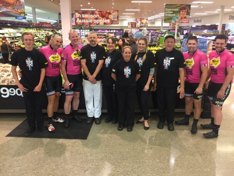 Woolies workers & Team Woolies Riders