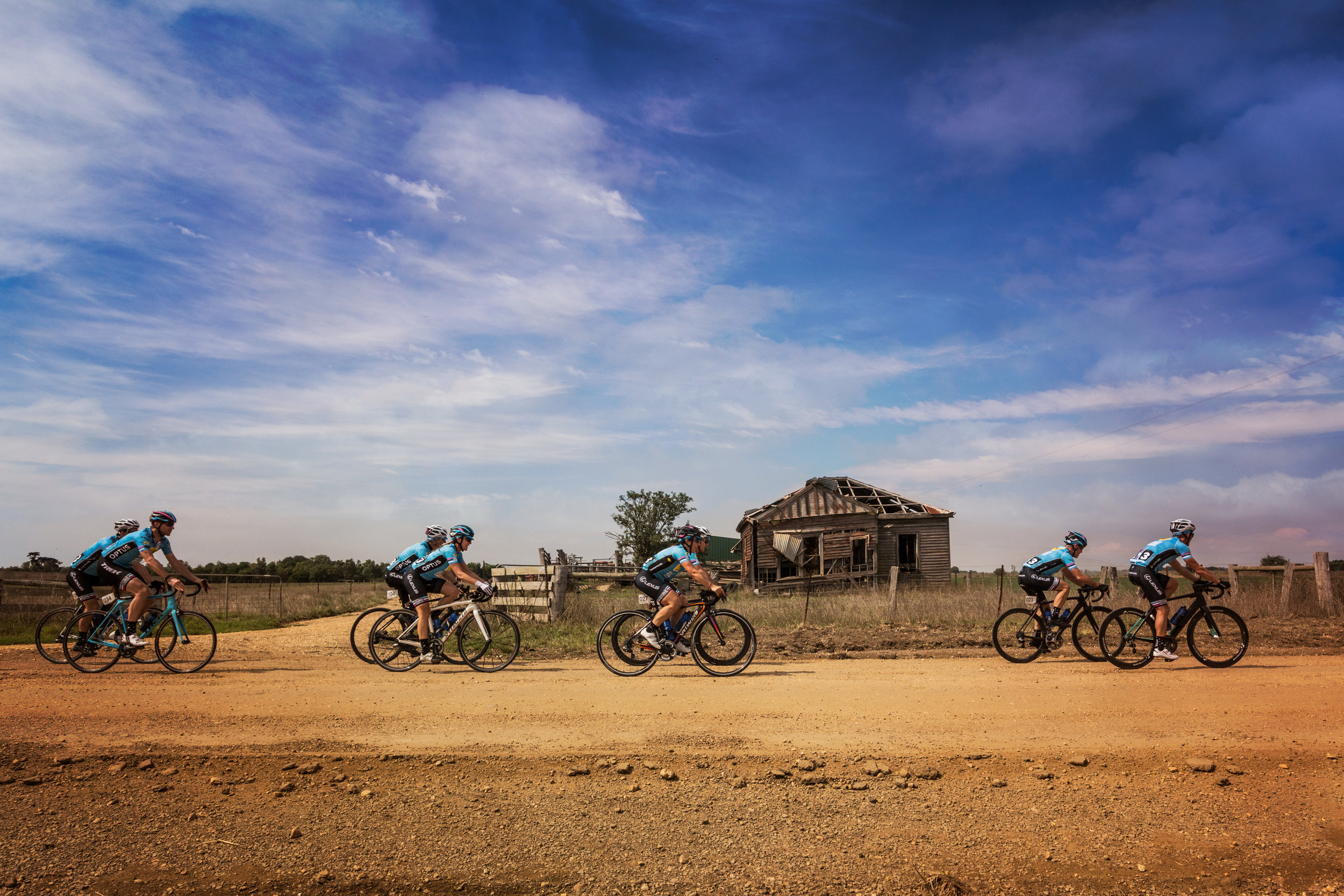 It wouldnt be a Tour without some dirt roads!