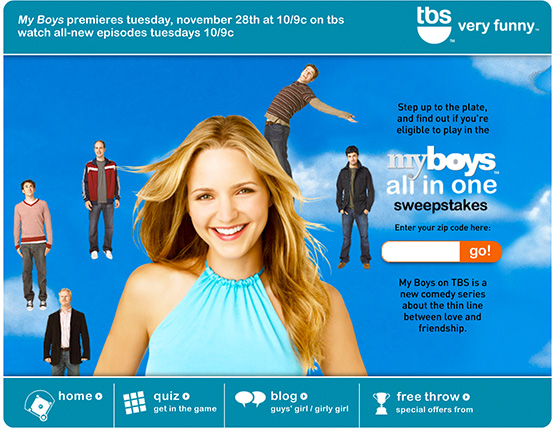TBS — My Boys Promotional Site