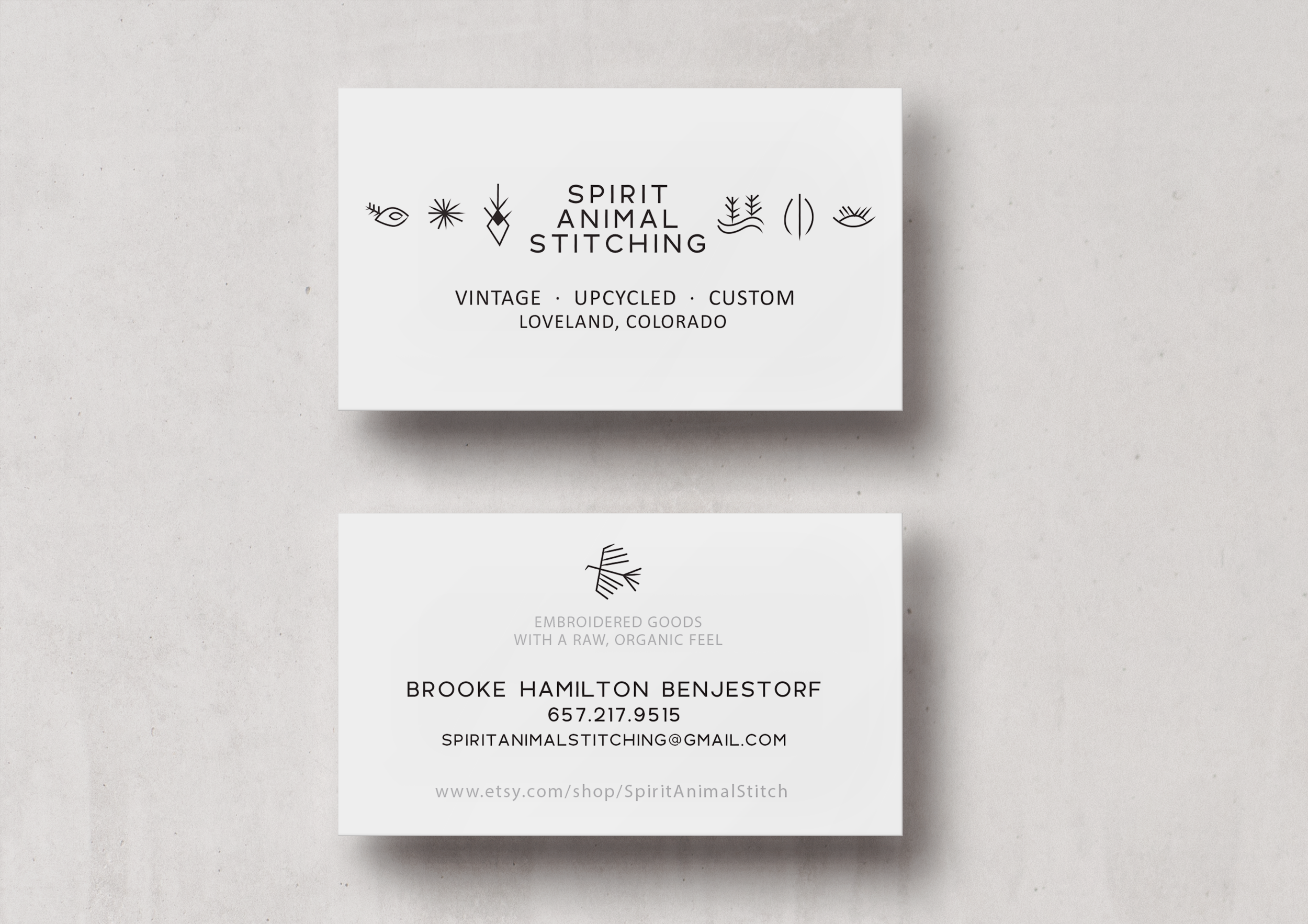 Spirit Animal Stitching Business Card Design