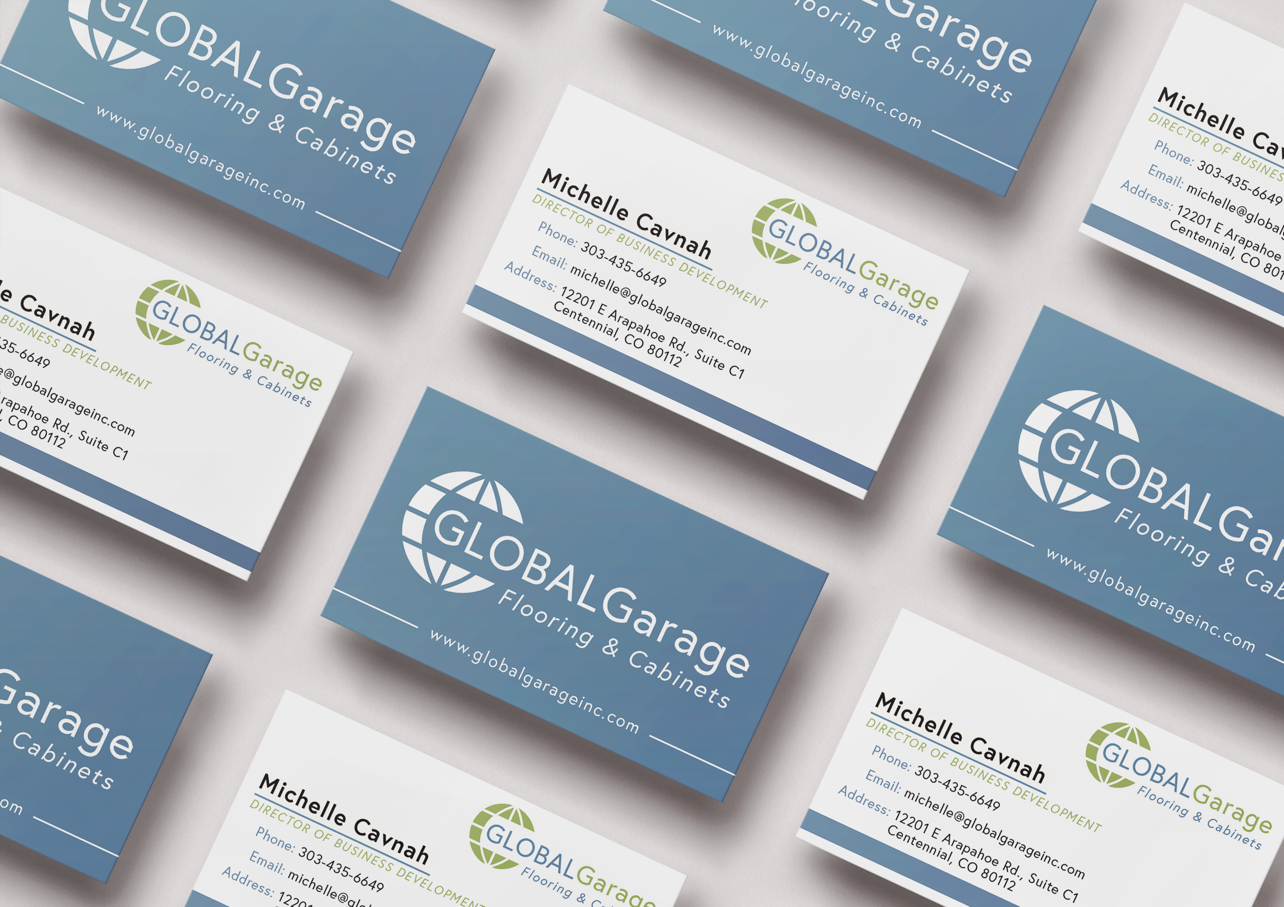 Global Garage Business Card Design