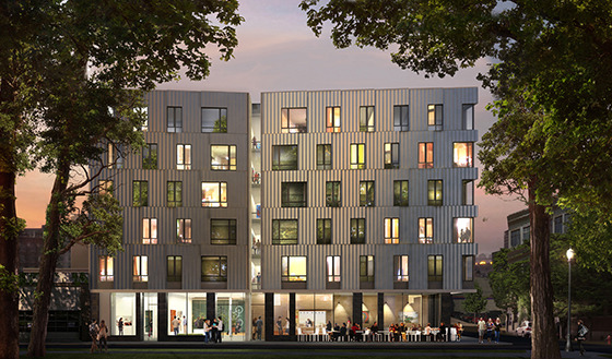 LEED Projects :: ArtHouse at night