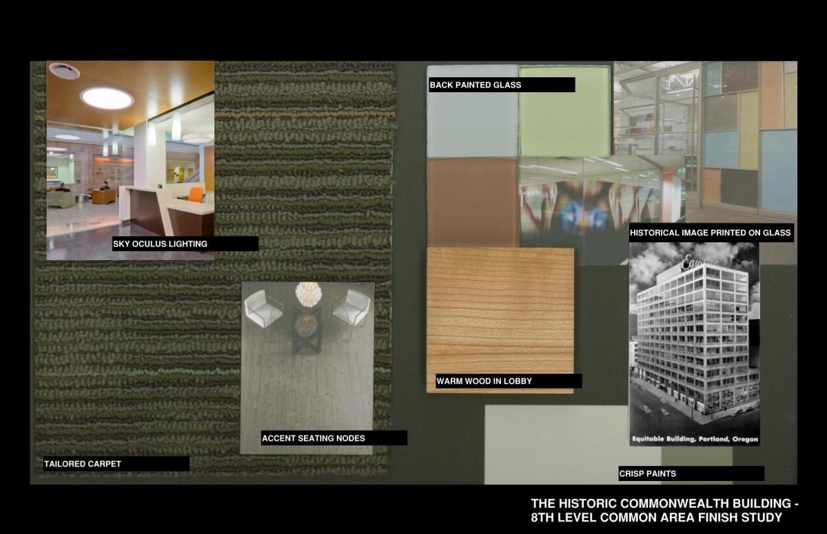 Finish Material Selections :: Commonwealth Building proposed interior finishes