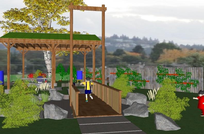 Sketch Up Renderings :: Rieke outdoor classroom proposal