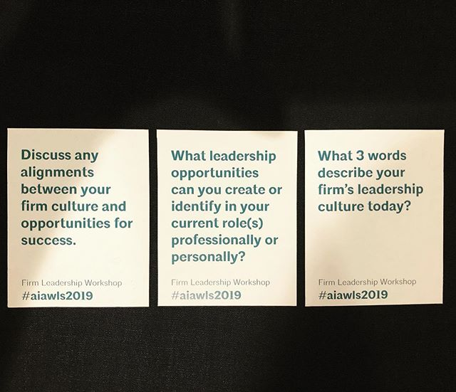 The conversation is starting, appreciating the time to reflect & consider the trajectory of my career! #aiawls2019 #leadership #womenempowerment #design #minneapolis #mytribe #inspiration