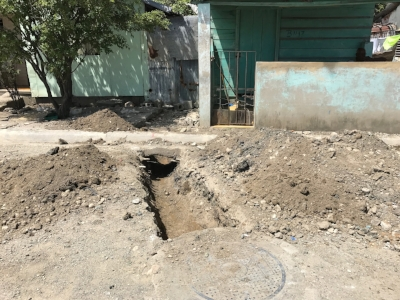 The sewer line means the community will be less unsanitary.