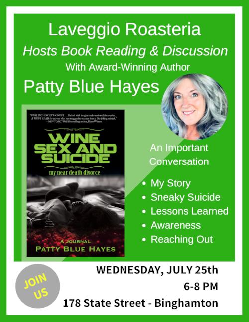 Author Event Patty Blue Hayes Laveggio Roasteria.png