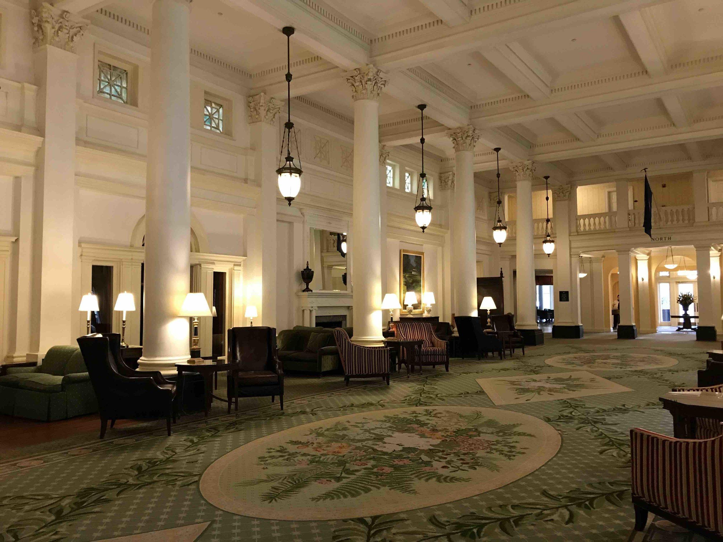 Lobby of the Omni Homestead Hotel