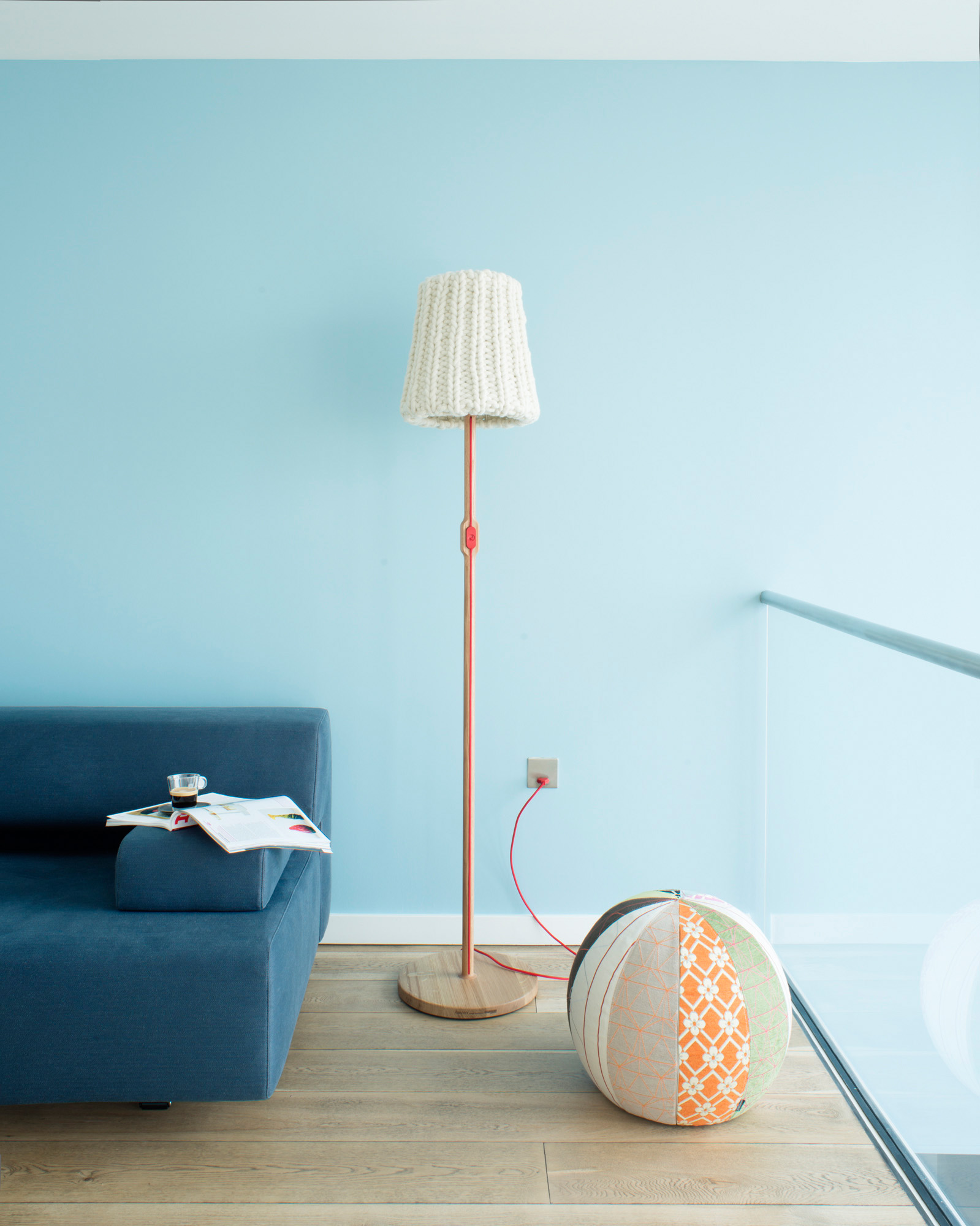 Granny floor lamp by Casamania, Joy pouf by Moroso.  Photography Justin Barton
