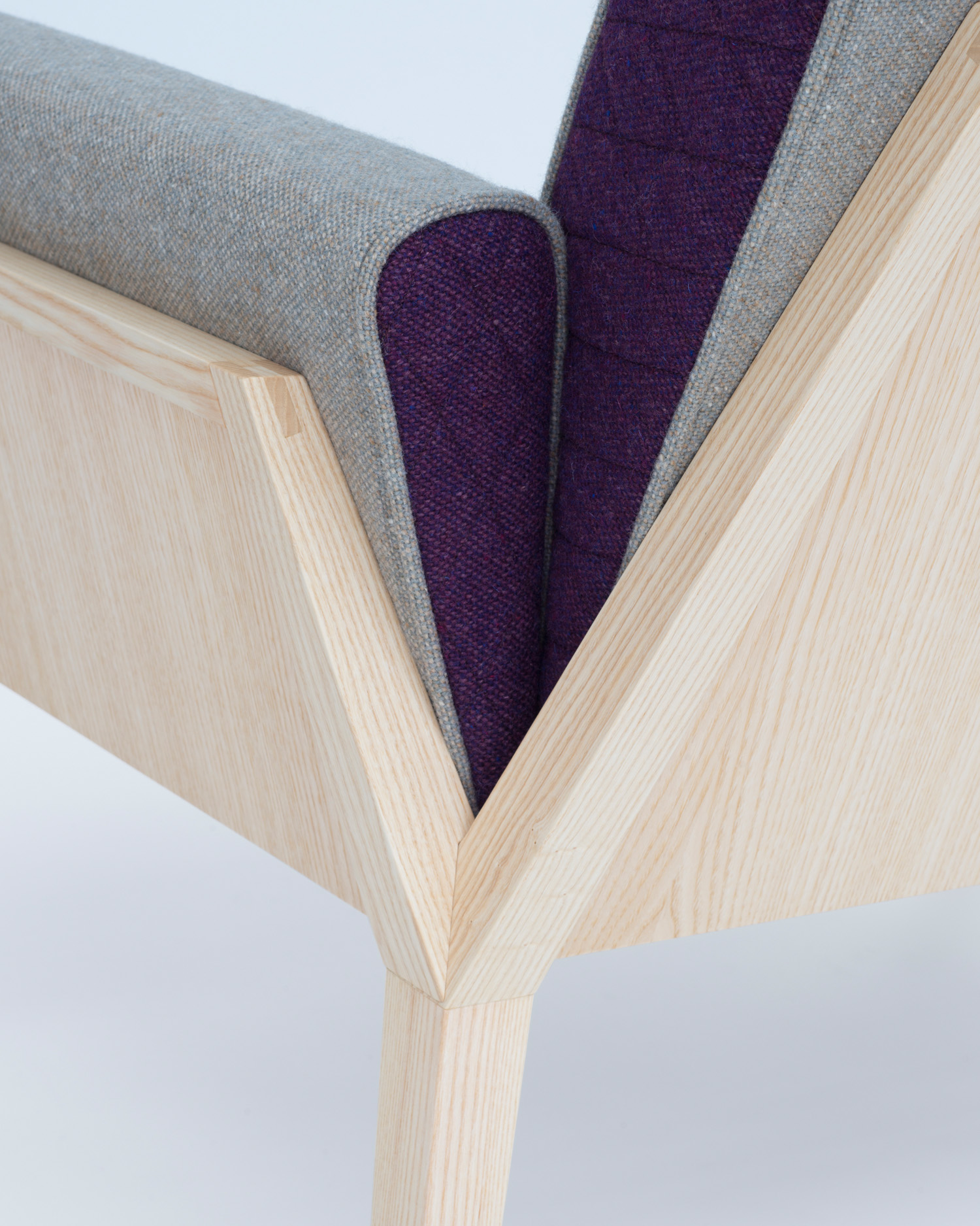 Æsh & Tweed detail armchair  Photography by Justin Barton