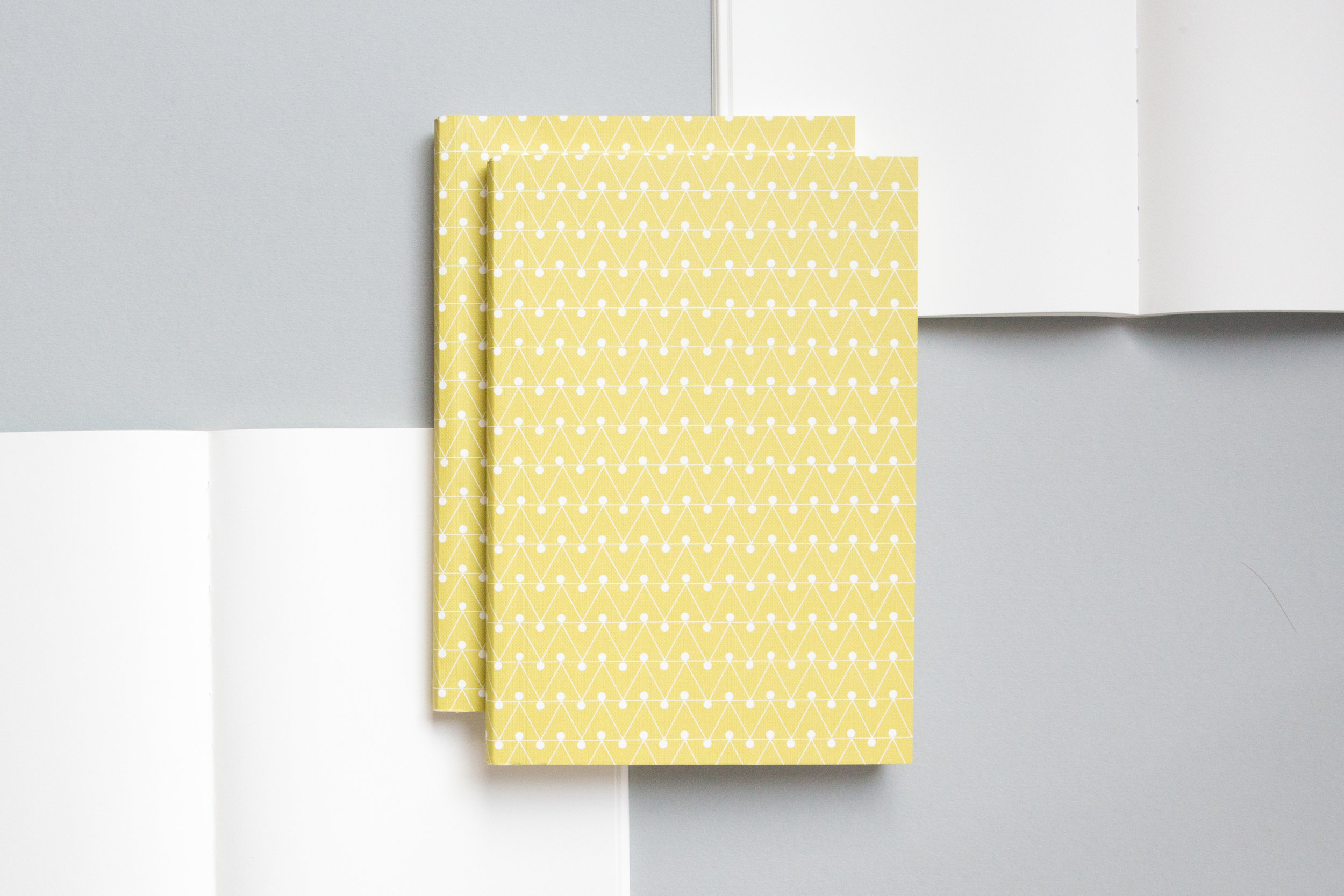A5008ML - Layflat Notebook, Dash Print in Leaf Green and Ruled, ola.jpg