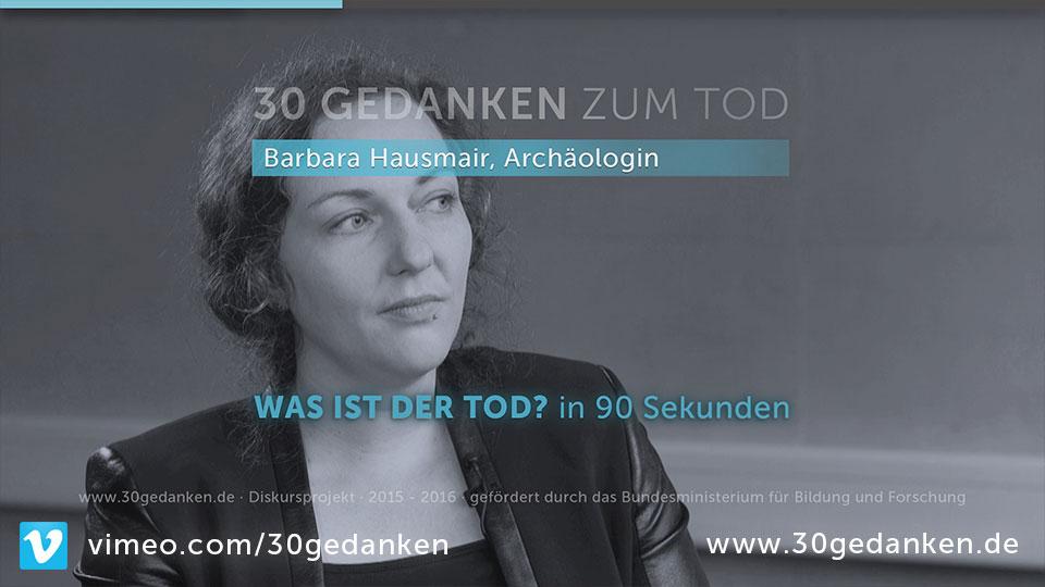 Dr. Barbara Hausmair, 30, Archäologin