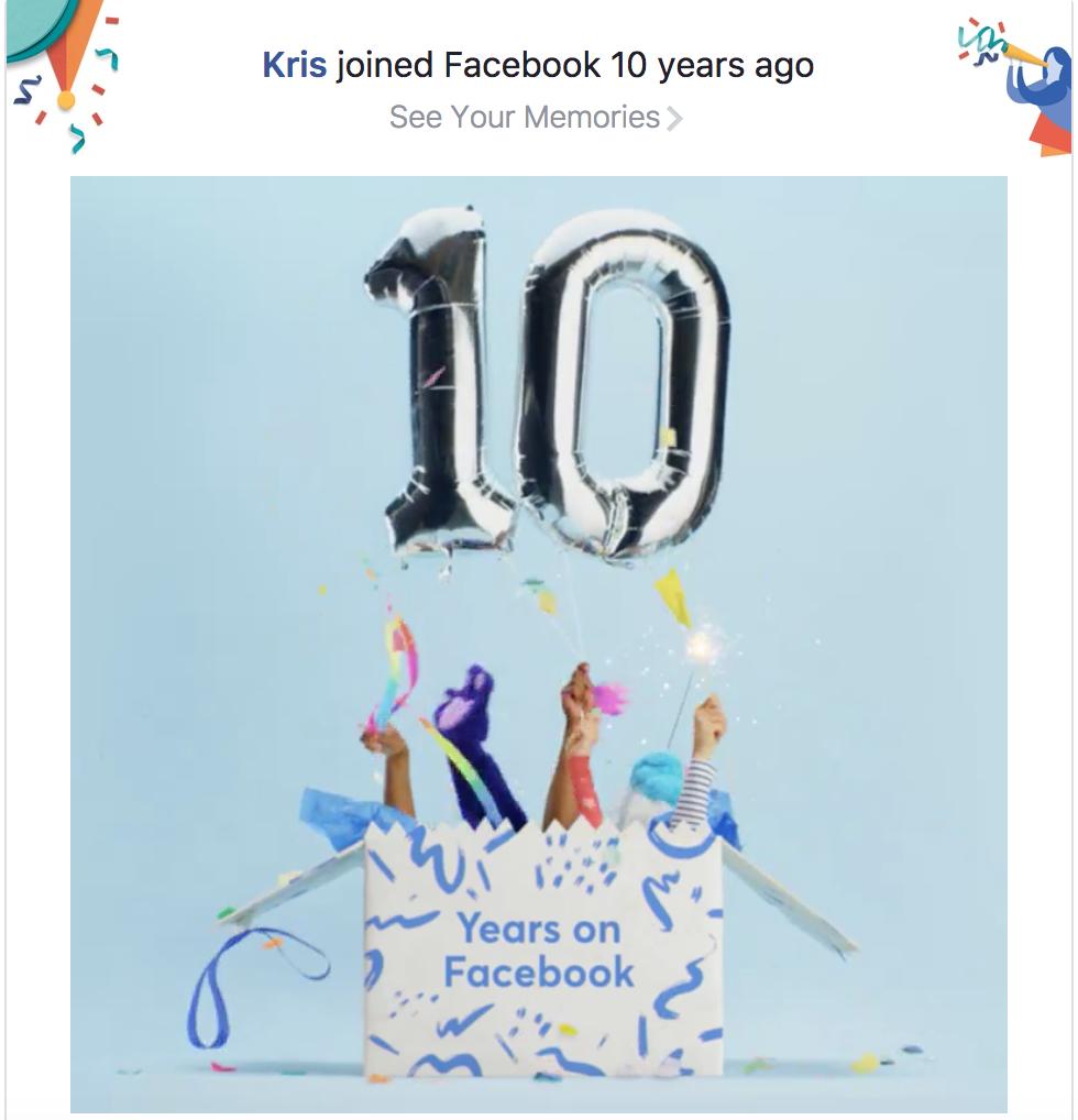 10 Years Facebook