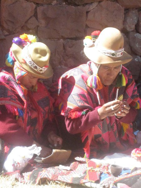 Q'ero shamans leading the group through daily despacho ceremonies.