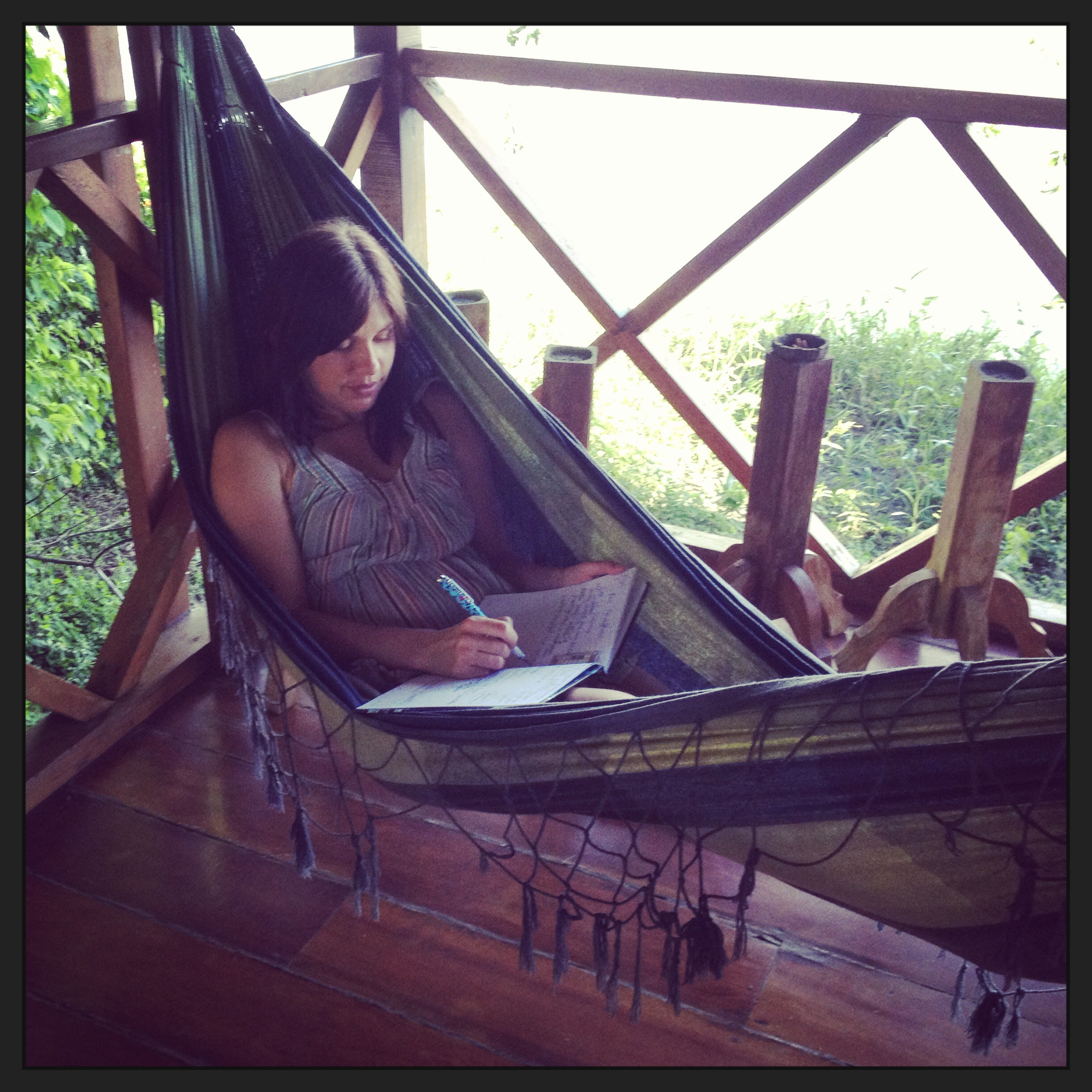 Rochelle integrating her experiences while writing in her journal in Peru.