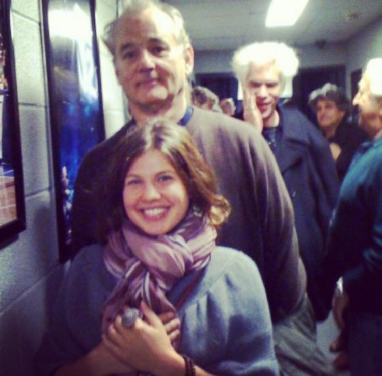 Backstage at a Neil Young concert in NYC having a memorable run in with Bill Murray.